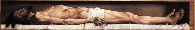 The Body of the Dead Christ in the Tomb � m�lad av Holbein 1521