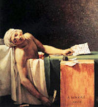 Marat � m�lad av Jacques-Louis David